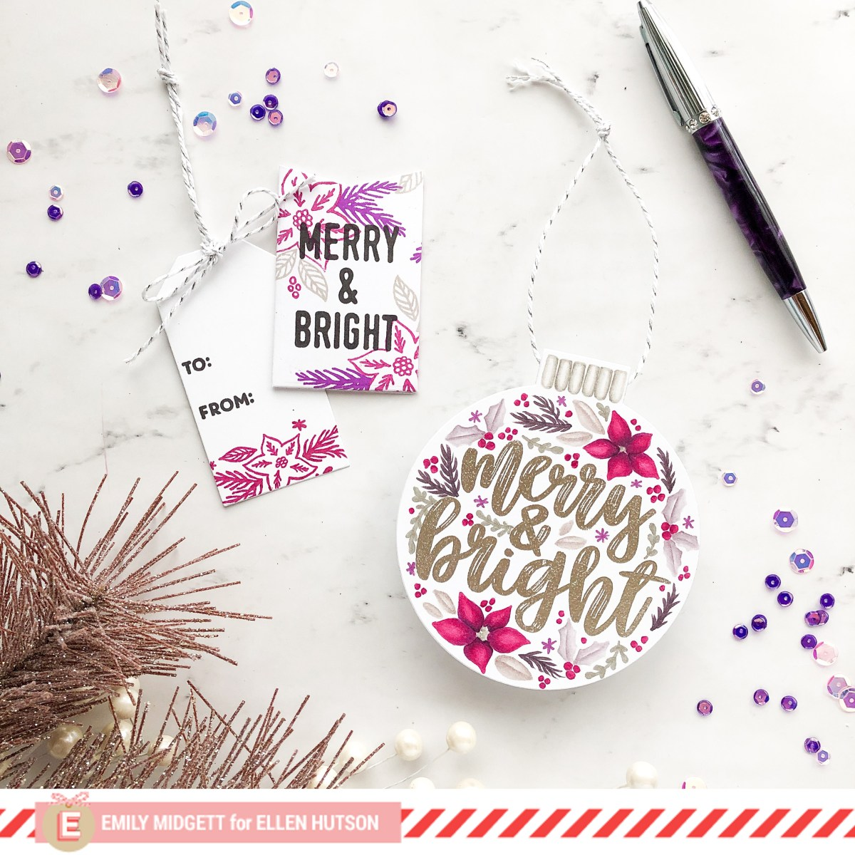 12 Feminine Tags of Christmas, Concord and 9th Style!